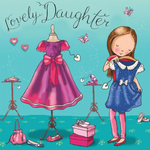 TW681 - Birthday Card For Daughter Dresses